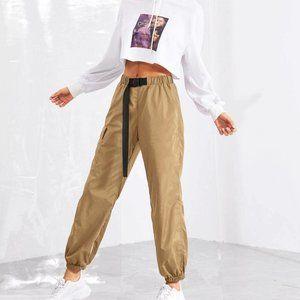 Shein   Push Buckle Windbreaker Pants S